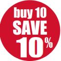 Buy 10 Get 10% Off